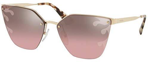 Prada PR68TS ZVN436 Pale Gold PR68TS Cats Eyes Sunglasses Lens Category 2 ()