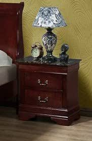 Louis Philippe Night Stand with Faux Marble by CrownMark