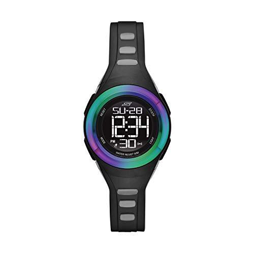 Skechers Women's Tennyson Quartz Silicone Strap, Black Casual Watch (Model: SR2099)