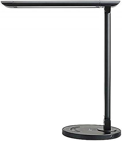 Escritorio LED de la lámpara, el cuidado de los ojos-lámparas de mesa, lámpara regulable Oficina con puerto de carga USB, 5 modos de iluminación con 7 niveles de brillo, control táctil, Blanco, 12W la