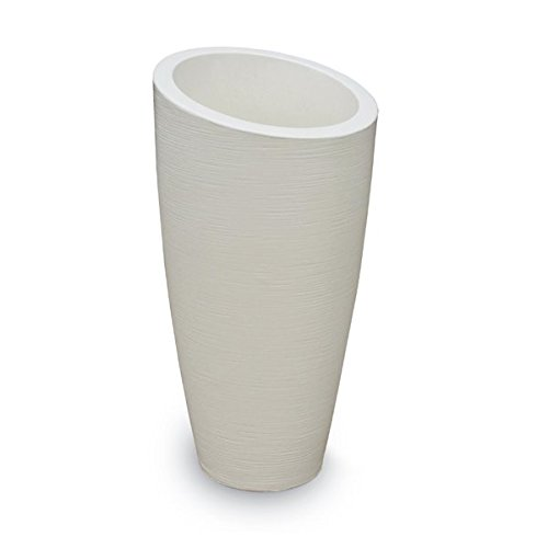 - 32 in. Tall Planter in Ivory