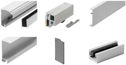 crl280 satén anodizado serie solo Panel de puerta corredera con ...