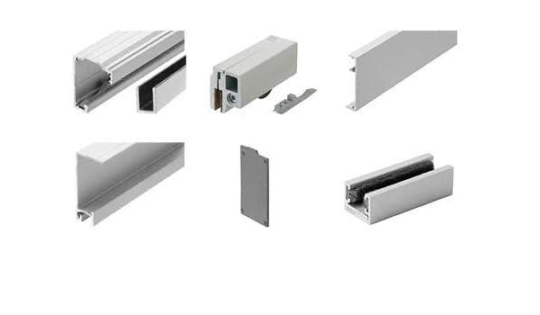 crl280 satén anodizado serie solo Panel de puerta corredera con fija Kit de instalación de montaje en pared o techo para 1/2