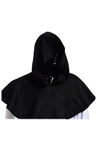(YMING Vintage Medieval Cowl Hat Halloween Hooded Wicca Pagan Cosplay Accessory Unisex)