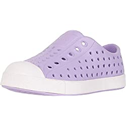Native Kids Shoes Baby Girl's Jefferson (Toddler/Little Kid) Lavender Purple/Milk Pink 11 M US Little Kid
