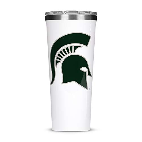 Corkcicle  Tumbler - 24oz NCAA Triple Insulated Stainless Steel Travel Mug, Michigan State Spartans, Big ()