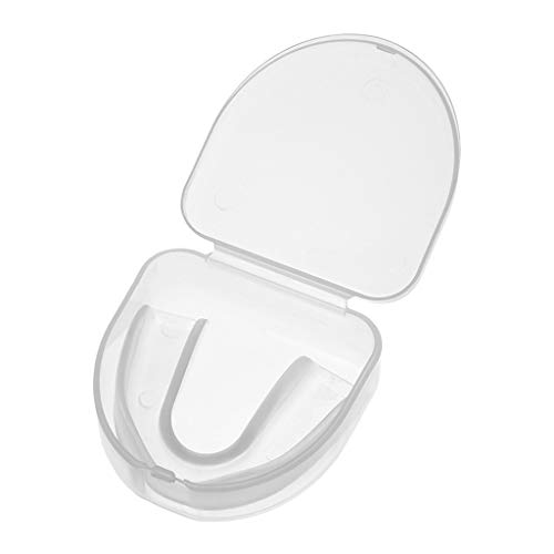 Jonerytime Clear Gum Shield Teeth Protector Mouth Guard Piece Rugby Football Boxing (White)