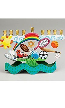 Metal Sports Hanukkah Menorah by Karen Rossi
