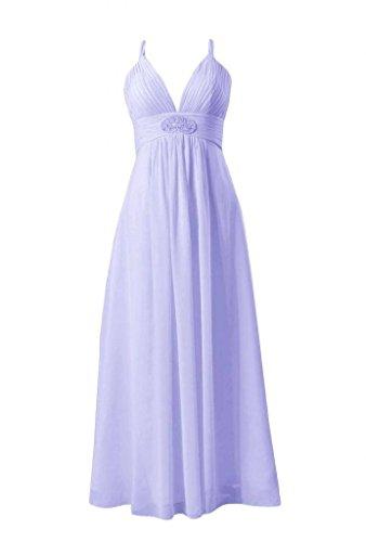 collo 7 Da Della lavanda Sera Formale Vestito V Lungo bm350 Signora D'onore Del Damigella Daisyformals qw0HBnYOE