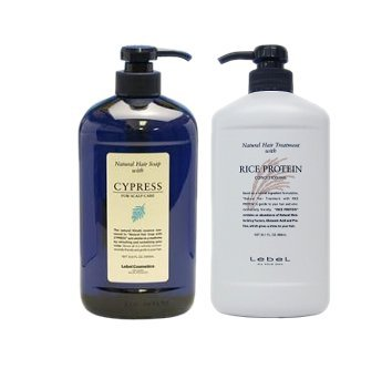 [Classic set] Rubell (LebeL) Natural Hair Soap with CY (Cypress 1000ml) & Natural hair treatment with RP (rice protein 980g)