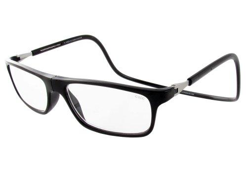 Clic Executive Single Vision Full Frame Designer Reading Glasses, Black, - Glasses Designer Cheater
