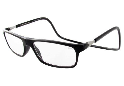 Clic Executive Single Vision Full Frame Designer Reading Glasses, Black, - Glasses Find Clear Where To
