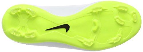 Nike Barn Jr Mercurial Victory V Fg Fotboll Cleat Vit / Volt / Hyper Rosa / Svart