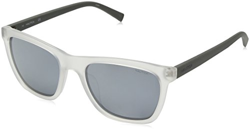 Nautica Men's N3629sp Polarized Square Sunglasses, Matte Crystal/Matte Grey, 56 - Sunglasses Nautica