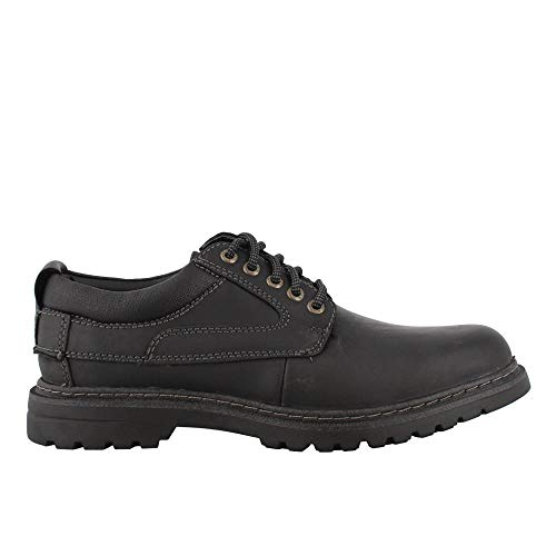 - Dockers Mens Warden Leather Rugged Casual Oxford Shoe with NeverWet, Black, 12 W