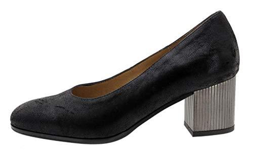 Salón Piesanto Cómodo 185301 Negro Zapato Mujer Metal Ante ET0qBv