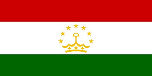 Tj 4' Long Arm (magFlags Medium Flag Tajikistan | landscape flag | 0.96m² | 10sqft | 80x120cm | 2.5x4ft -- 100% Made in Germany -- long lasting outdoor flag)