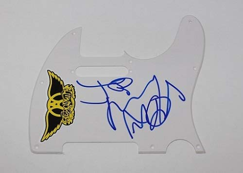 Aerosmith Walk This Way Joe Perry Signed Autographed Fender Telecaster Electric Guitar Pickguard Loa