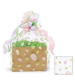BundleOfBeauty Item# GH3830A 5pack Easter Eggs Designed Cello/cellophane Bags Gift Basket Packaging Bags Flat- 20