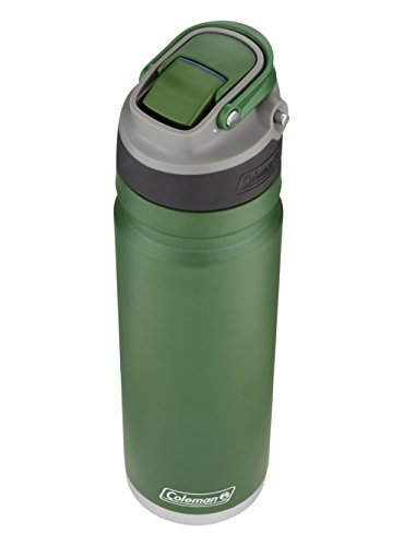 Heritage Water Bottle (Coleman Switch AUTOSPOUT Insulated Stainless Steel Water Bottle, Heritage Green, 24 oz.)
