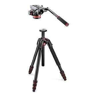 Manfrotto 190go! Aluminum 4 Section Tripod with Twist Locks & Pro Video Head ... by Manfrotto