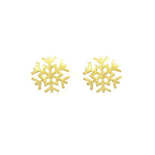 Altitude Boutique Snowflake Earrings Winter Snowy Gold Silver (Gold) (Winter Snowflake Earrings)
