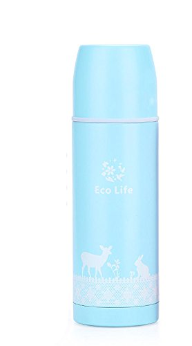 Blue Stainless Steel Travel Mug Tea Water Coffee Bottle Flask Cup by Travel Mugs