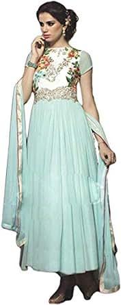 Khoobsurat Turquoise Party Anarkali Set For Women