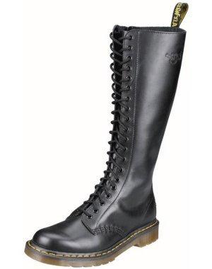 Dr. Martens 20 eye Leather Boots (B1B60Z) Black (Noir)