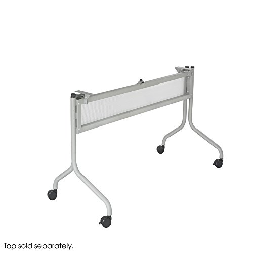 Safco Products 2030SL Impromptu Table Base for 48'' Wide Table Top (sold separately), Silver by Safco