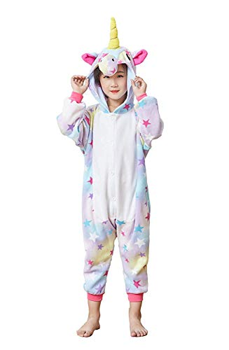 EcoOnesie Girls Animal Onesie Halloween Cartoon Costume One Piece Unicorn Pajamas Anime Cosplay Lounge Wear Outfits Kids Size -
