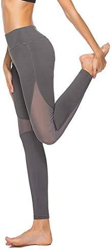 ヨガウェア ヨガパンツフィットネスランニング高弾性薄いクイックドライホローメッシュナインパンツ女性のハイウエストランニングパンツおなかコントロールパワーストレッチヨガレギンス