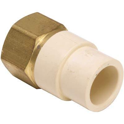 Proplus 784354 1/2 in. CPVC Socket x 1/2 in. FIP, Lead Free CPVC/Brass Transition Adapter ()