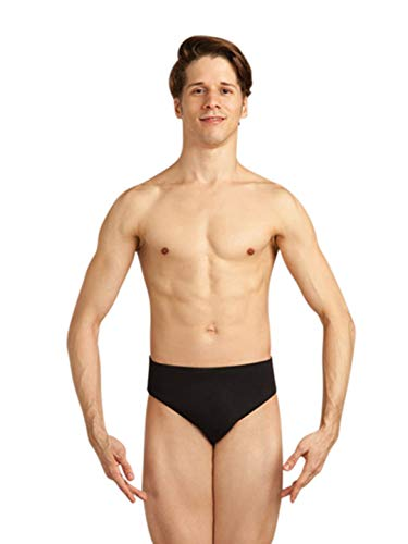 Capezio Men's Full-seat Dance Brief, Black, ()