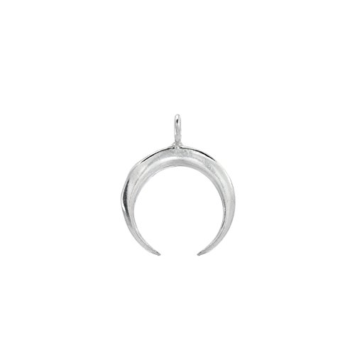 Crescent Moon Charm Pendant With Bail - 925 Sterling Silver (1 Pc)