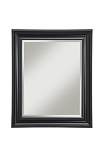 Sandberg Furniture 12017 Black Wall Mirror Black,36 X 30