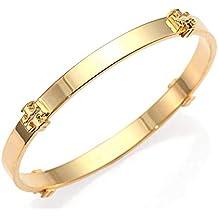 Tory Burch Logo Bangle Bracelet Gold