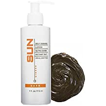 Sun Ultra Dark Instant Self-Tanning Lotion 4 oz. - Dark SL20025 - Sunless Tanner For Women Streak Free - Fake Tanning Lotion - Cruelty Free- Safe For All Skin Types - For Body And Face