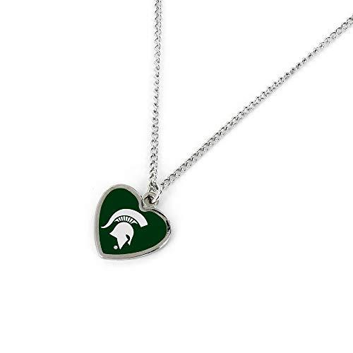 aminco NCAA Michigan State Spartans Heart Pendant