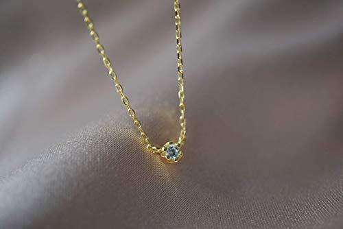Tiny Gold Diamond Necklace - Dainty Bling Necklace - Zirconia Necklace - Choker Necklace - Handmade - Minimalist - Necklace Diamond Moon