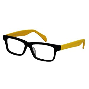 EyeBuyExpress Retro Style Wooder/Black/Yellow Reading Glasses Magnification by EyeBuyExpress