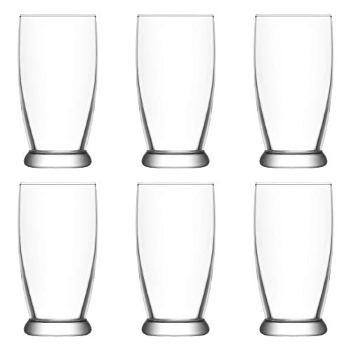 LAV Roma Glass Water Glasses Set - Contemporary Tumblers for Juice, Cocktails - 140ml - Pack of 6 ()