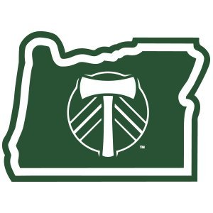 MLS Portland Timbers Sticker in Oregon - 100% Vinyl Sticker - With Sticky back - Used on all flat hard smooth clean surfaces - For Outdoor and Indoor Use - All Weather - Available in Size - 4