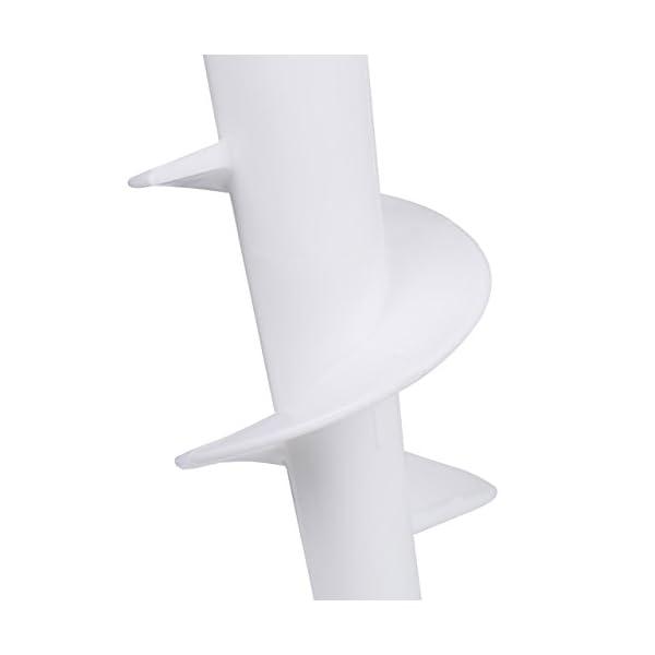 Relaxdays Trivella per ombrelloni in plastica, per Spiaggia, Sabbia, Ø palo Max. 32 mm, H: 43 cm 4 spesavip