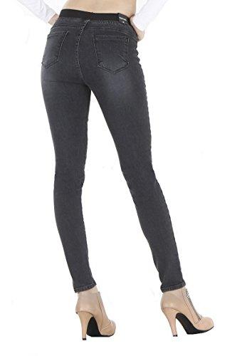WeHeart Mascara Women Skinny Jeans Jeggings Pants Elastic Waist Black-Jean Medium by WeHeart (Image #6)