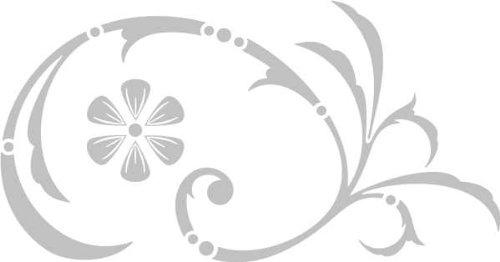 WANDTATTOO / Wandaufkleber - e30 hübsches Tribal Blätter Blumen Pflanzen Ranke 160x83 cm - glasdekor