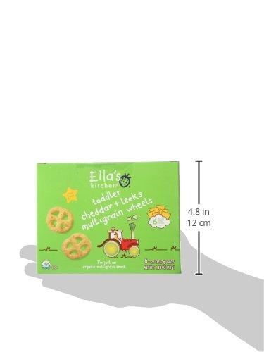 Ella's Kitchen Organic Multigrain Wheels - Cheddar   Leeks - 6 ct