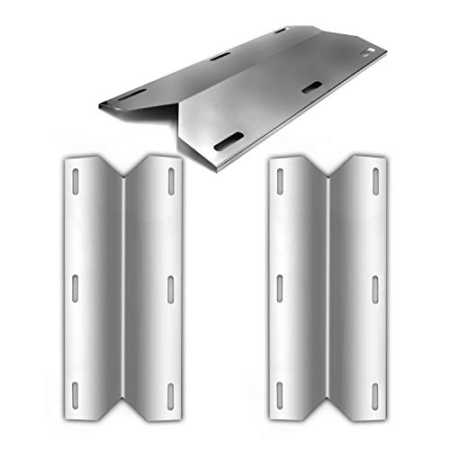 Hongso Grill Replacement Parts for Jenn-Air 720-0163, Nexgrill 720-0163, 17 3/4 Inch Stainless Steel Heat Plate Shield Heat Tent Flavorizer Bar Vaporizor Bar SPB631 (3-Pack)