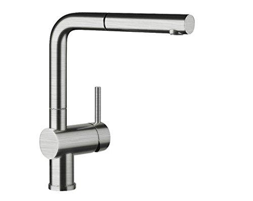 Blanco LINUS-S Küchenarmatur, metallische Oberfläche, Edelstahl gebürstet, Hochdruck, 1 Stück, 517184