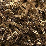 Crinkle Cut Paper Shred, Kraft, 1/2 ()